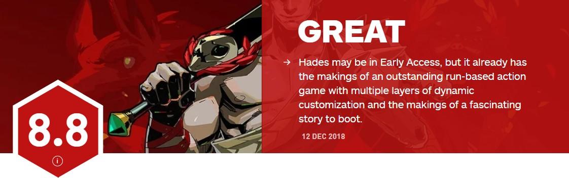 <b>有点亮 Roguelike新游《哈迪斯:地狱之战》IGN8.8分</b>
