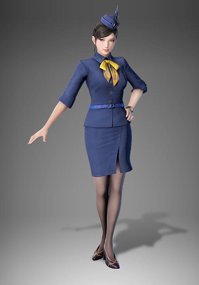 《真三國無雙8》新服裝DLC 甄姬穿空姐制服魅力無窮