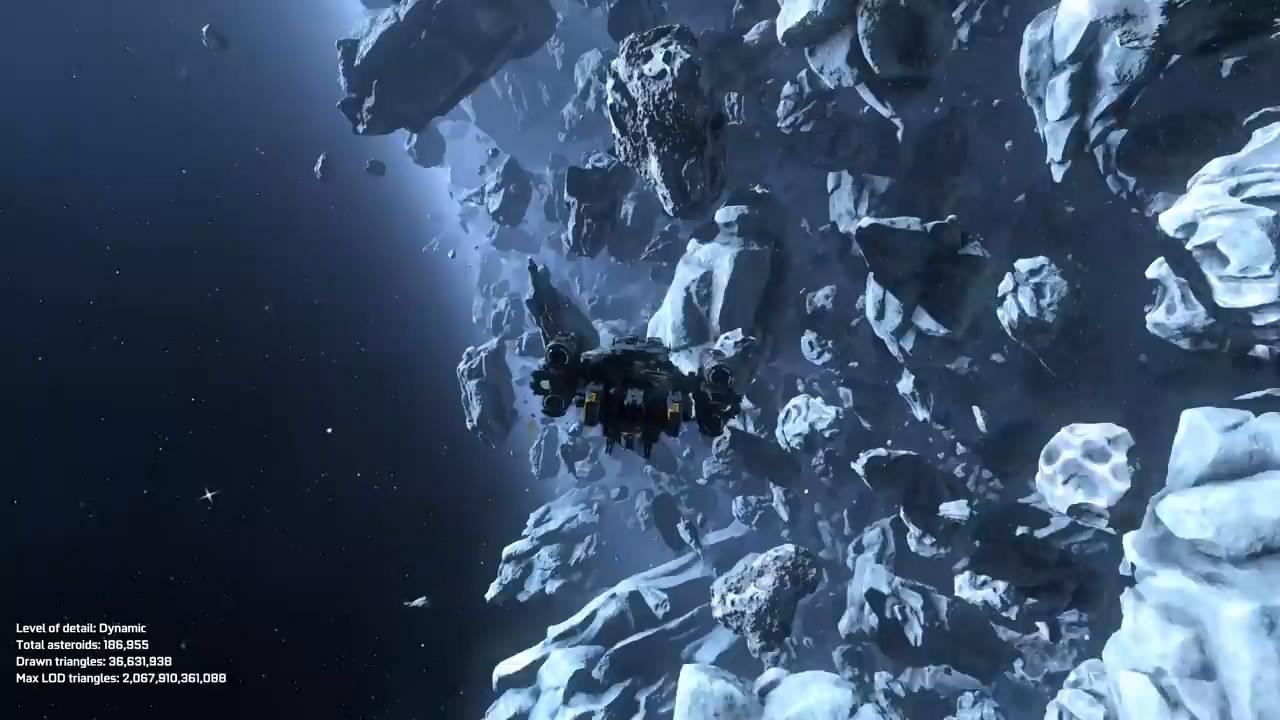 英伟达用Asteroids展示网格着色技术 显著提高图像质量
