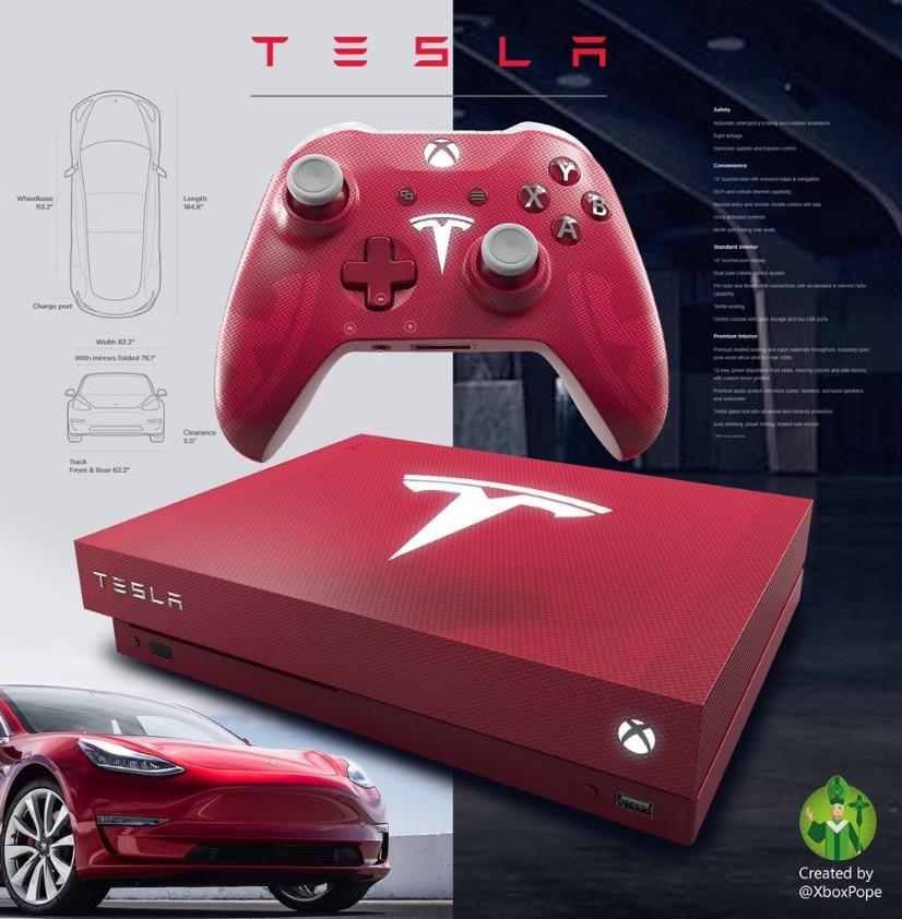 猩红警告!Xbox市场部总监晒特斯拉定制版天蝎座