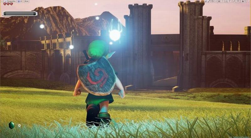 虚幻4引擎重制《塞尔达传说:时之笛》 新版演示 画面惊人