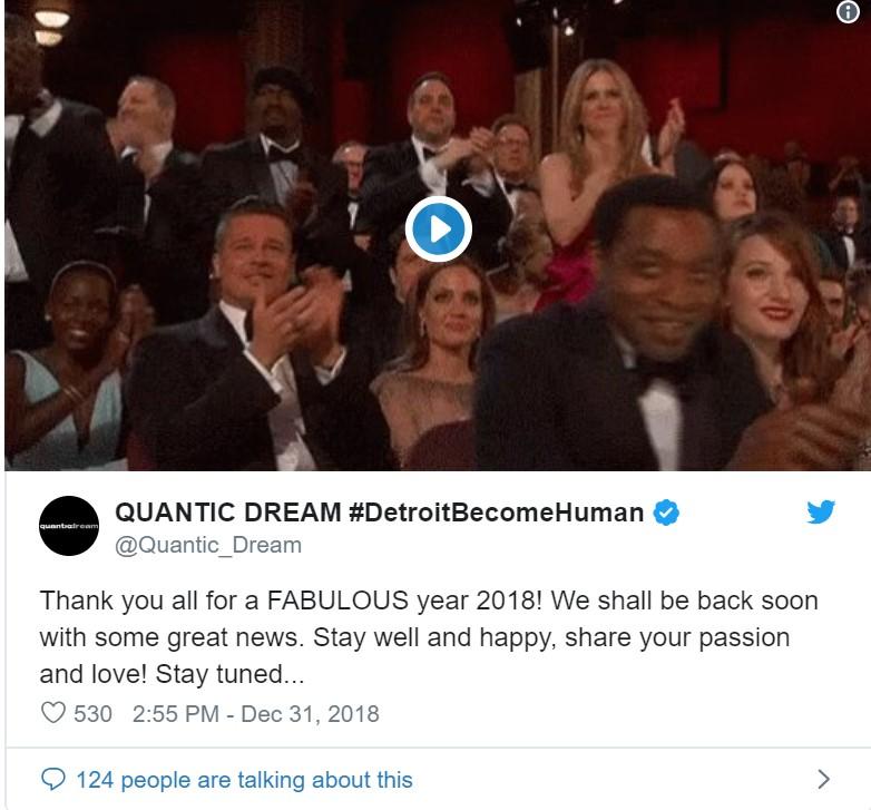 《底特律:变人》开发商Quantic Dream:有好消息即将公布