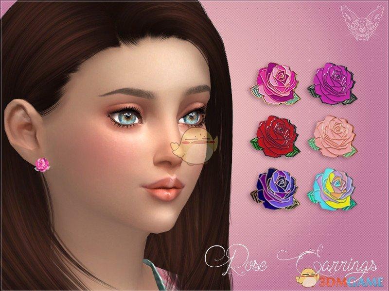 模拟人生4 玫瑰花耳环MOD