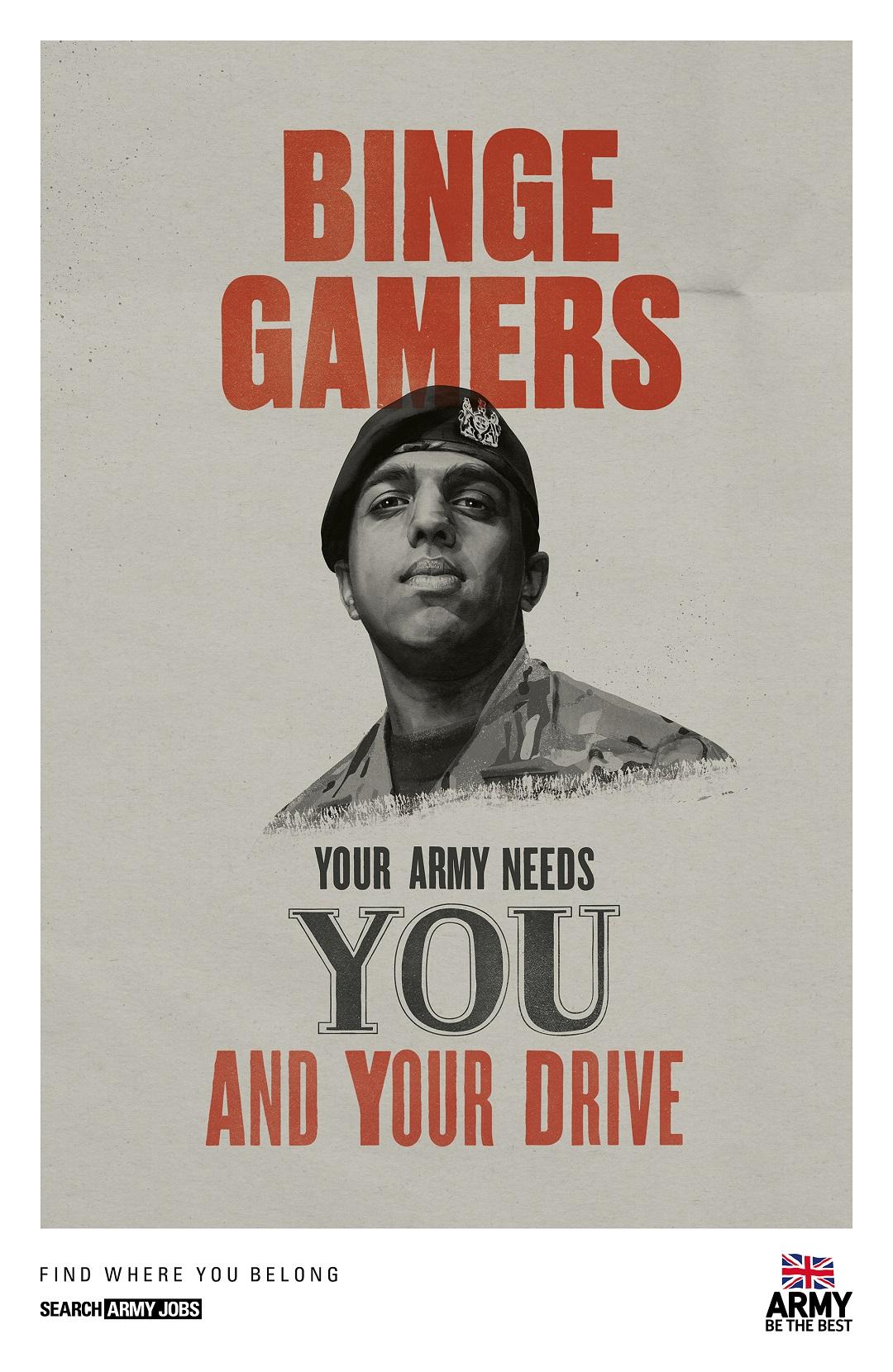 英国新征兵宣传片聚焦游戏玩家