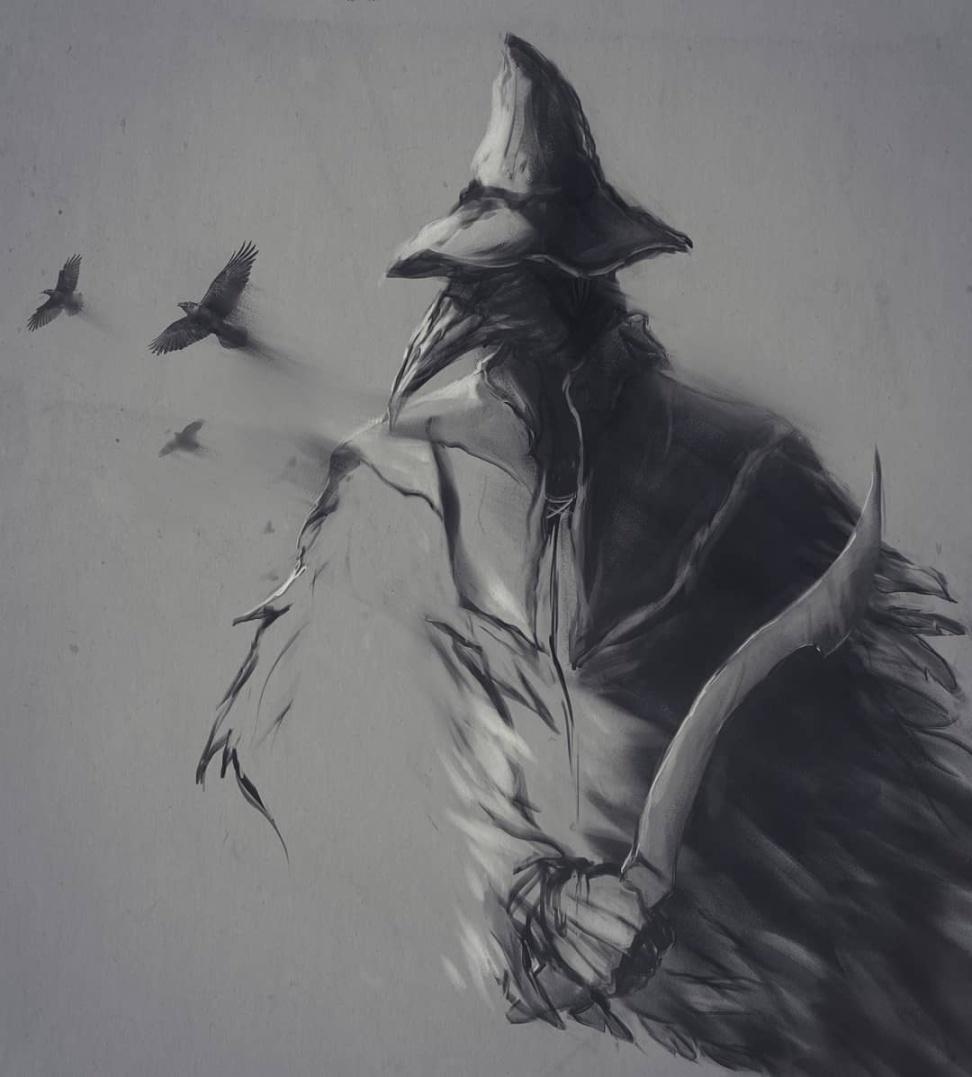 国外艺术家《黑暗之魂》绘画作品欣赏 魂与墨交织