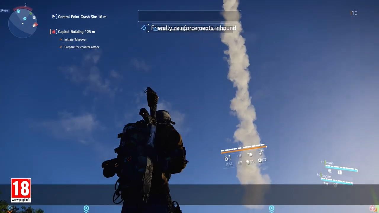 《全境封锁2》PC版澳门皇冠官网特色功能宣传视频 不锁帧、支持4K/HDR