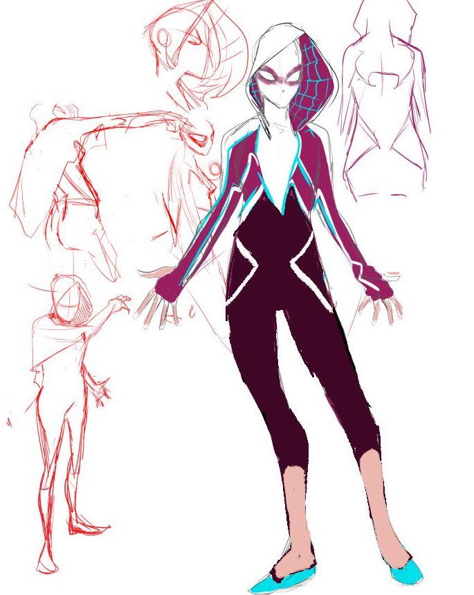 《蜘蛛侠:平行宇宙》女蜘蛛侠战服漂亮 是如何创作的