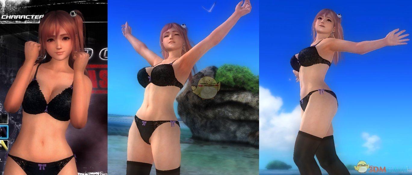 《死或生5:最后一战》Honoka黑色蕾丝泳装MOD