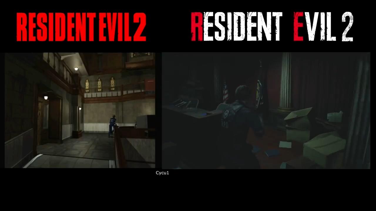 哪个恐怖?《生化危机2》新老版26分钟视频对比