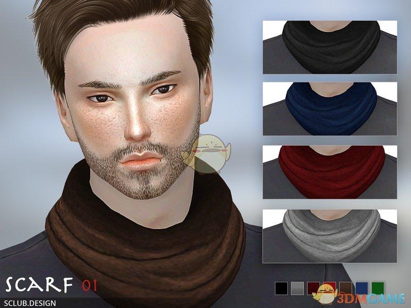 《模拟人生4》男士保暖围巾MOD