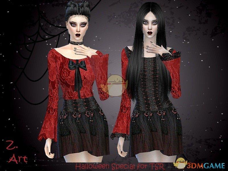 《模拟人生4》哥特式女性服装MOD