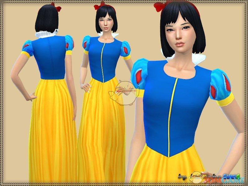 《模拟人生4》白雪公主裙子MOD