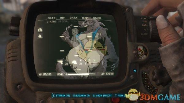 《辐射4》简单干净的界面MOD