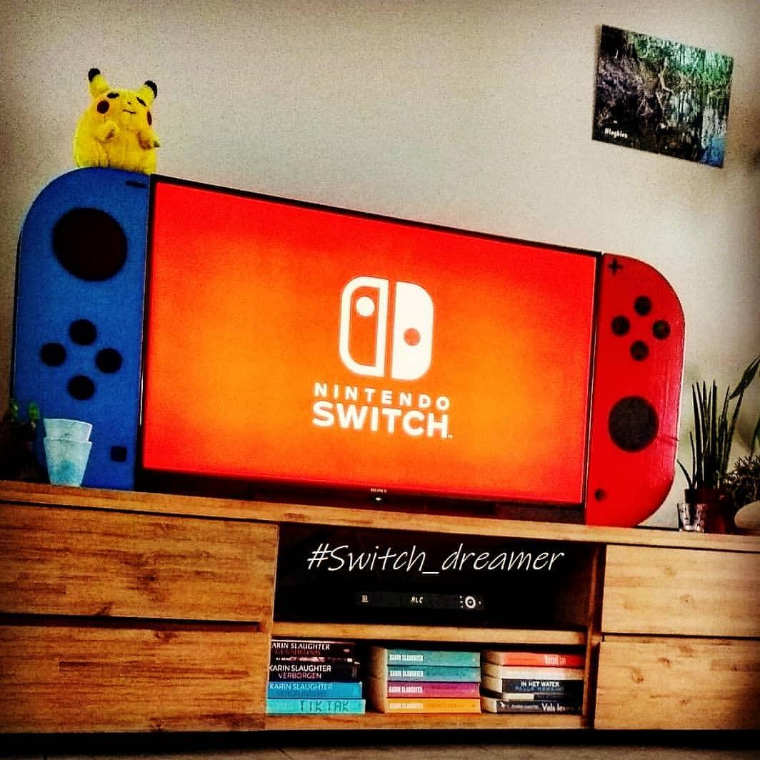 谁说Switch是掌机?这位玩家把电视变成Switch!