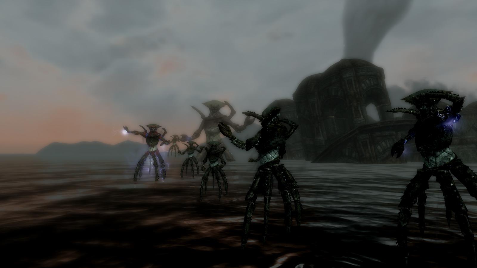 《上古卷轴5》新MOD克苏鲁的召唤 大战怪兽和巨龙