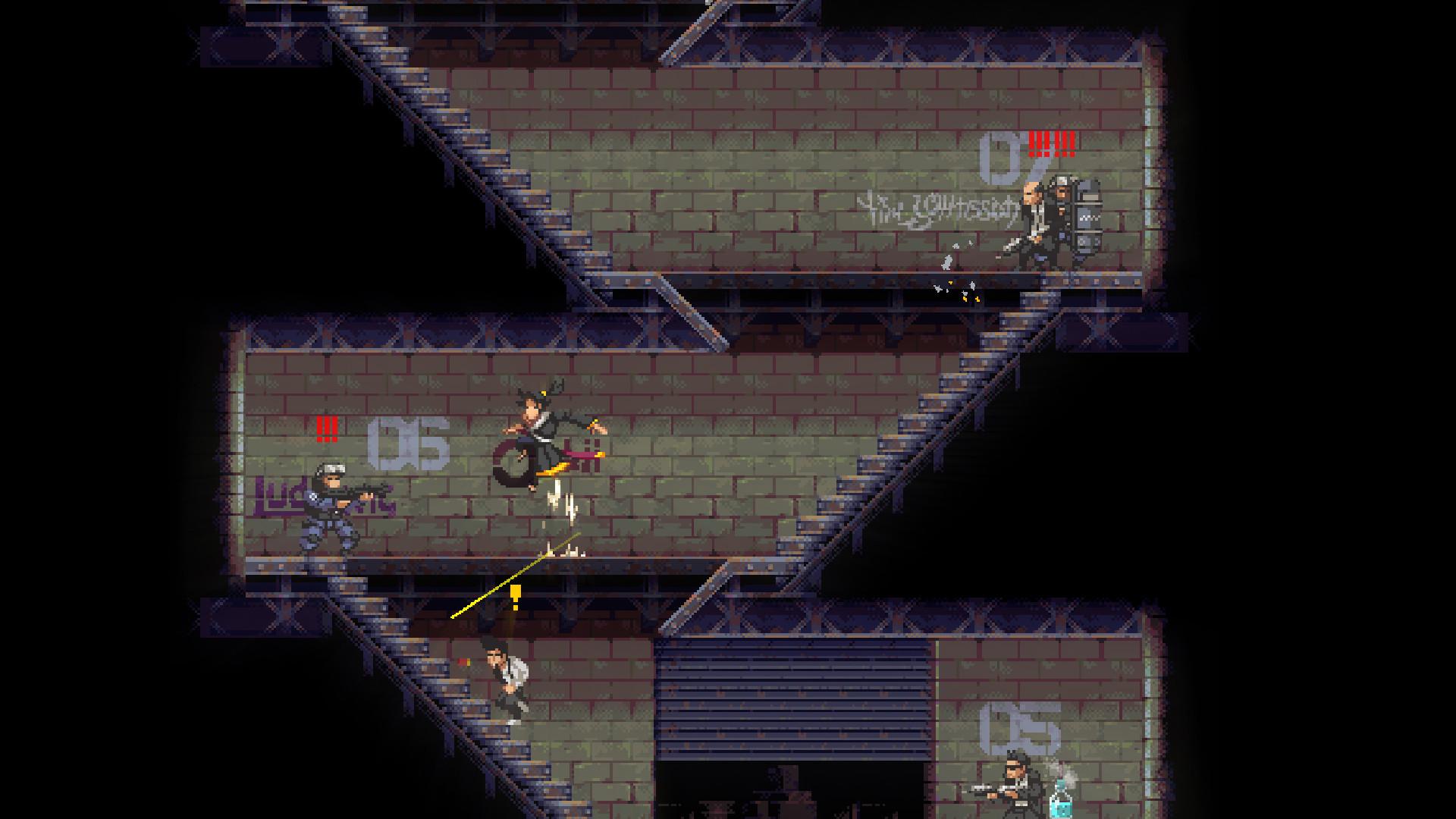 赛博朋克风像素砍杀游戏《武士零》发布全新预告