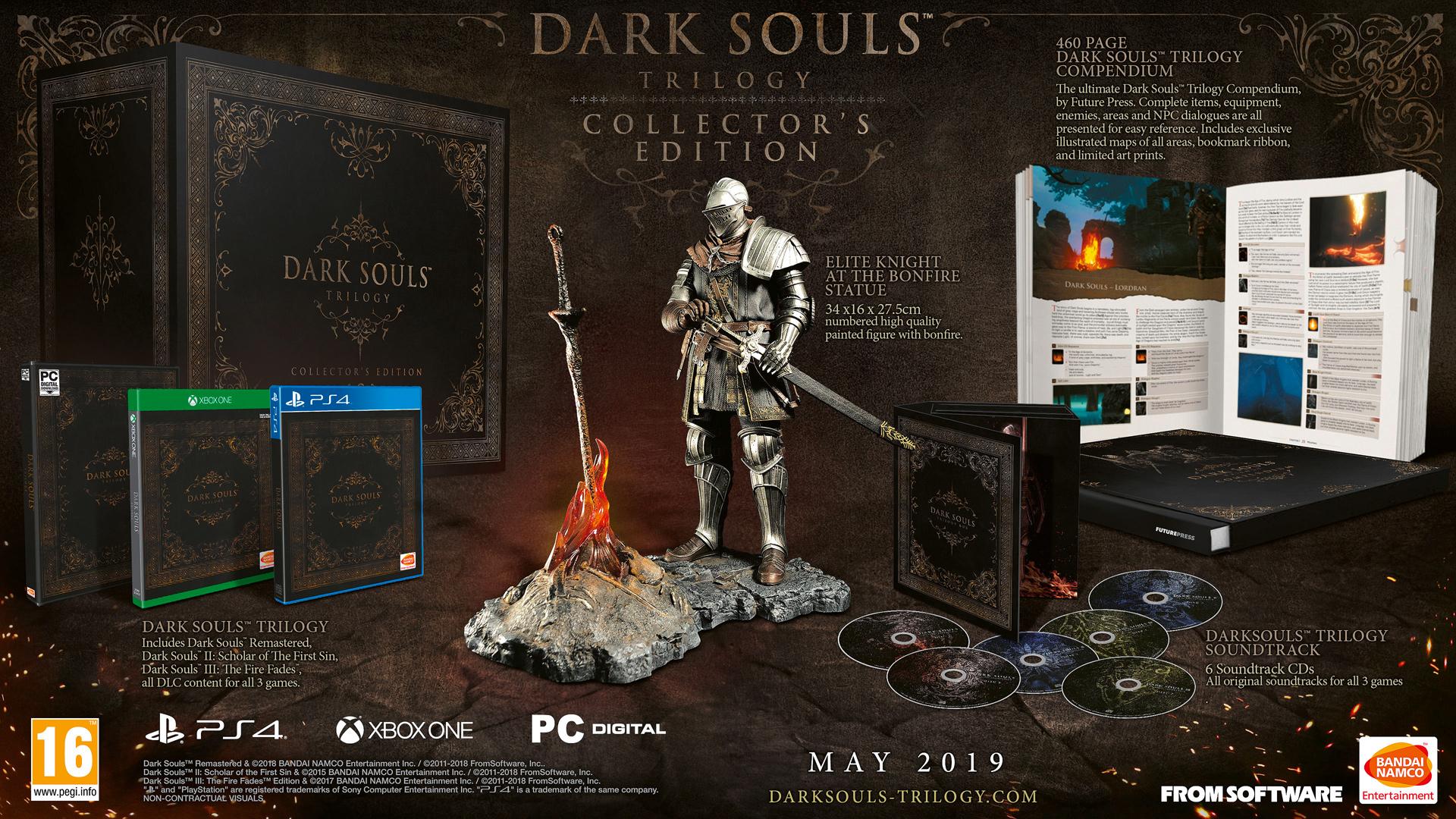 买游戏送篝火 450英镑《黑暗之魂三部曲》收藏版发售