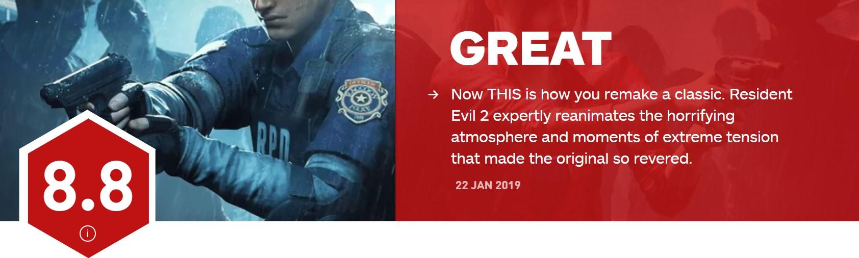 《生化?;?:重制版》IGN 9分 经典游戏重制新标杆