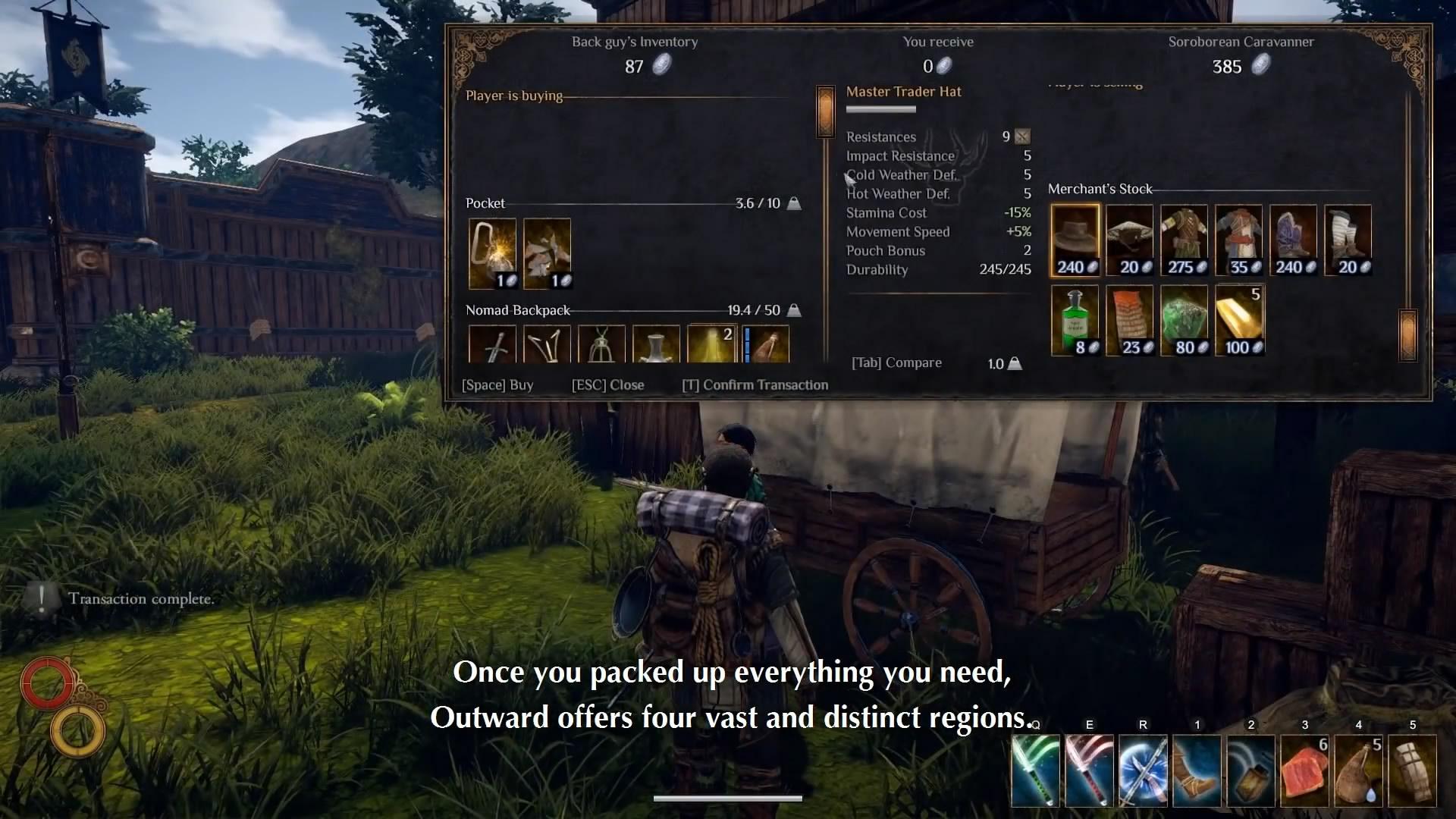 游戏新消息:开放世界RPG物质世界新视频独特背包系统介绍