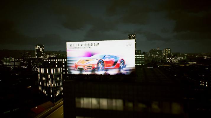 《皇牌空战7》巨幅超跑看板引猜测 南梦宫或暗示《山脊赛车8》