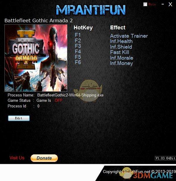 《哥特舰队:阿玛达2》v8822五项修改器[MrAntiFun]