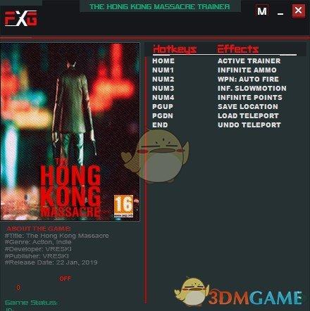 《杀戮香港》v1.02五项修改器[FutureX]