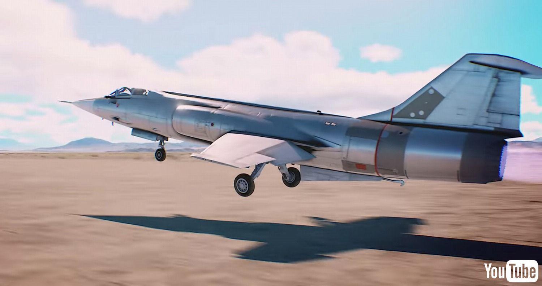 《皇牌空战7》首次出战F-104实机欣赏!日本战机展览馆一游