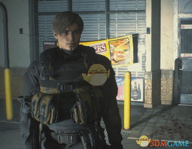 《生化危机2:重制版》穿汉克衣服的里昂MOD