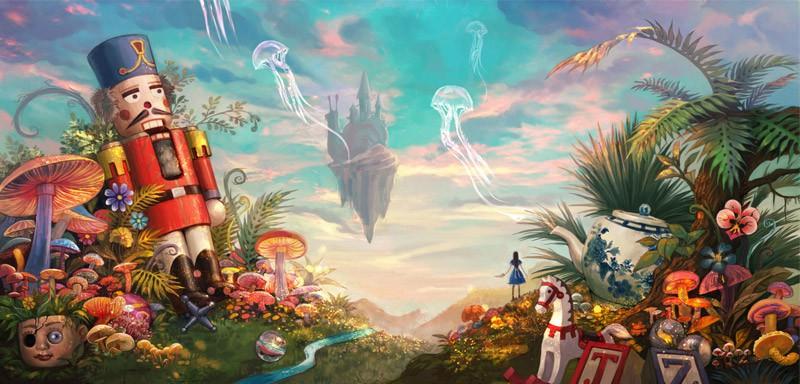 《爱丽丝:庇护》最新原画公布 风格诡异吓人!