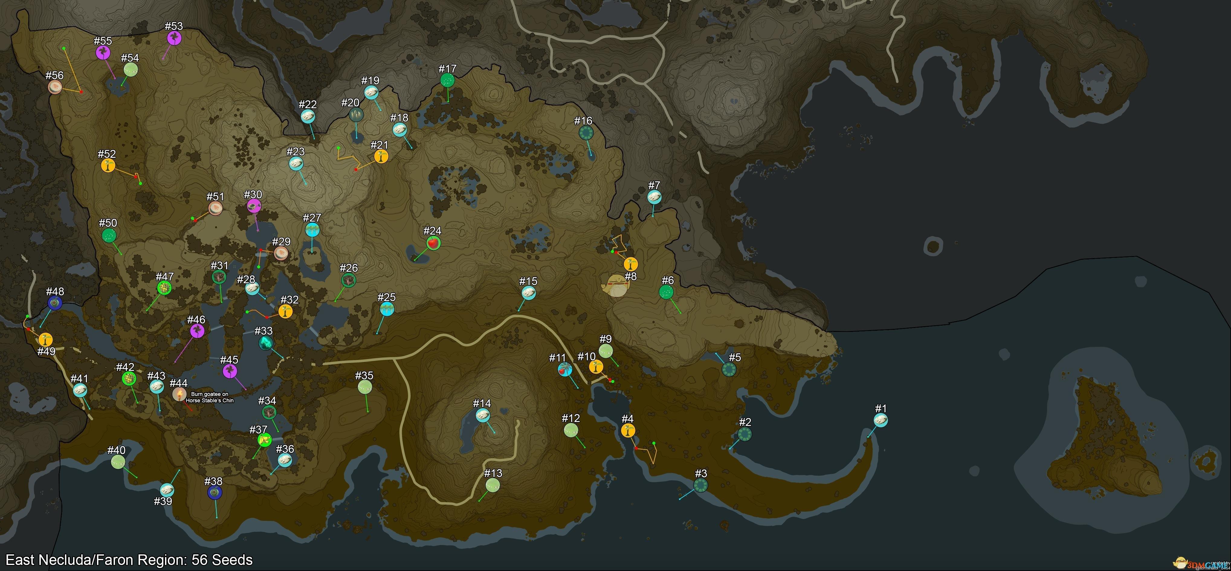 《塞尔达传说:旷野之息》全900个呀哈哈位置攻略