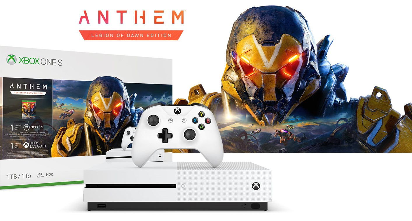 <b>微软公布Xbox One S《圣歌》同捆版 赠送EA通行证</b>