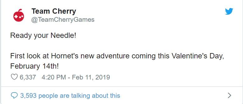 """《空洞骑士》首个付费DLC""""黄蜂女""""情人节公布"""
