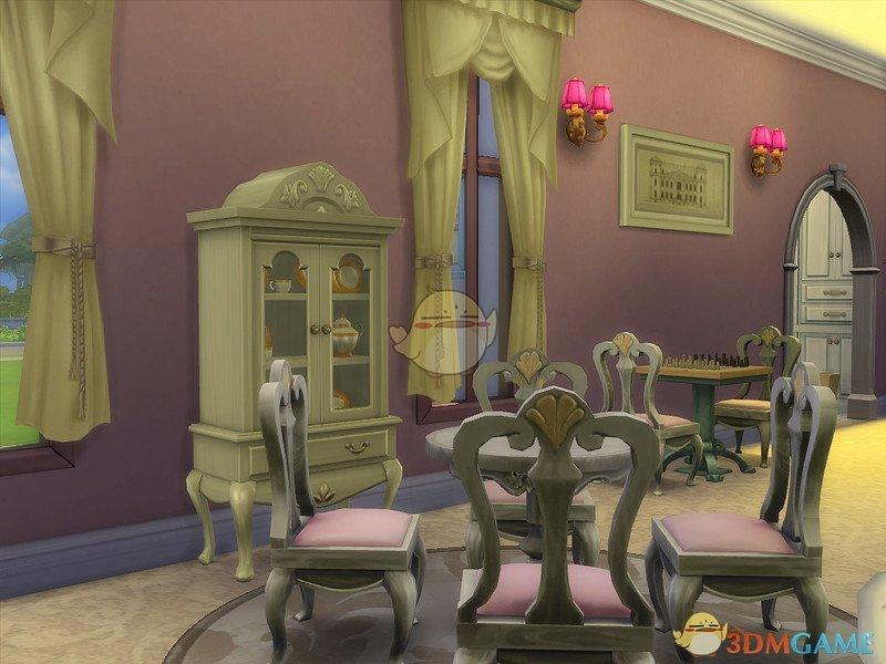 《模拟人生4》粉色小型住宅MOD