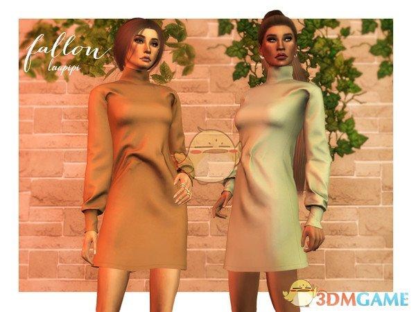 《模拟人生4》女性时尚长连衣裙MOD