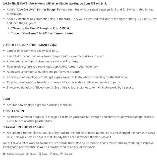 《Apex英雄》情人节更新:节日限定徽章 皮肤外观上线