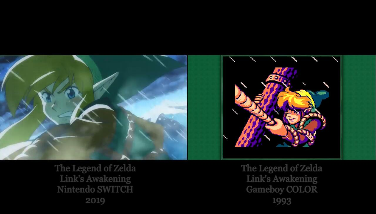 细致入微还原风格 《塞尔达传说:梦见岛》Switch版与GBC原版对比