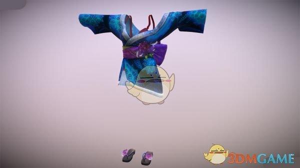 《怪物猎人:世界》苍蓝信花舞伎和服MOD