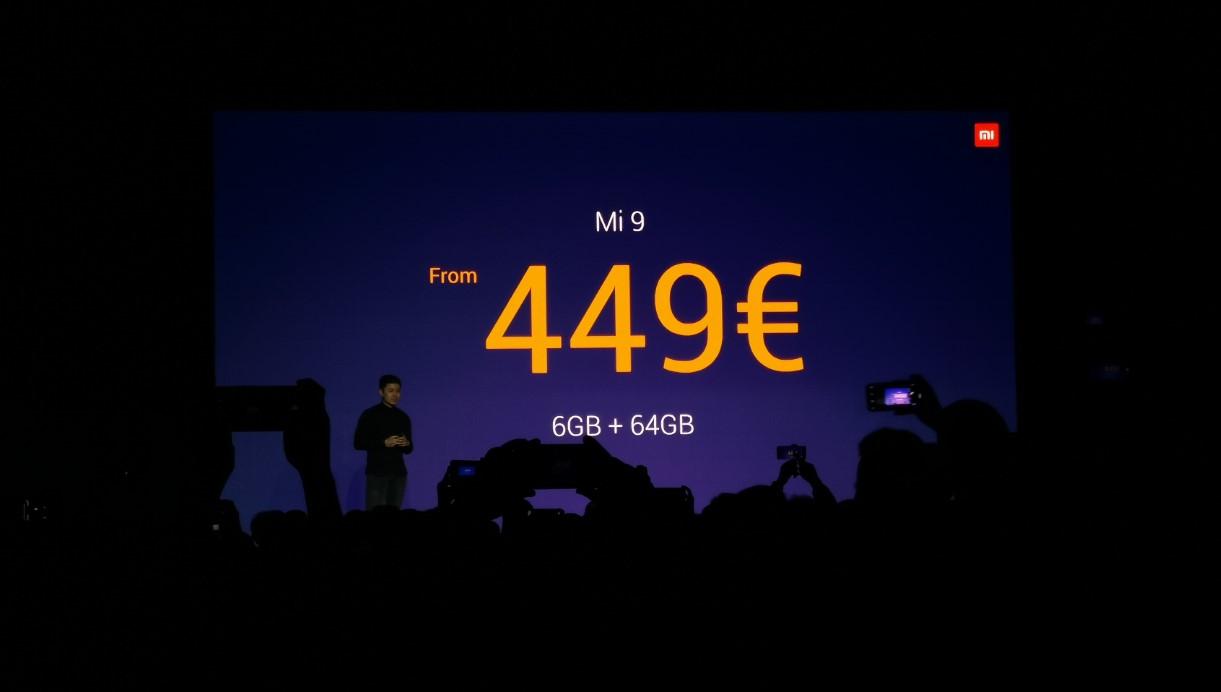 小米9在欧洲正式发布 售价449欧元起