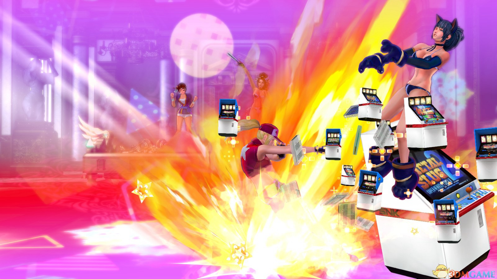 《SNK女格斗家大乱斗》 格斗操作视频演示 全角色结局动画