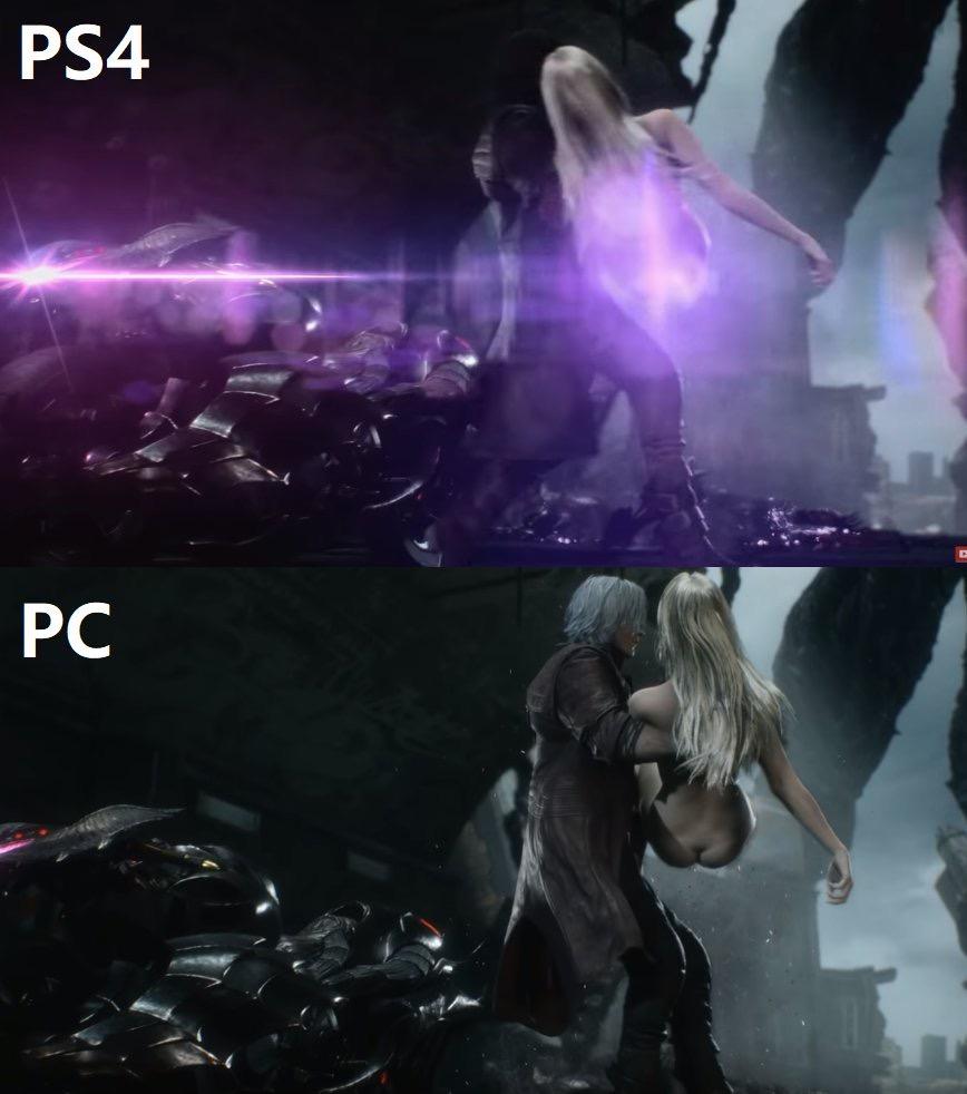 《鬼泣5》PS4版更新后 裸体美女被打上了圣光