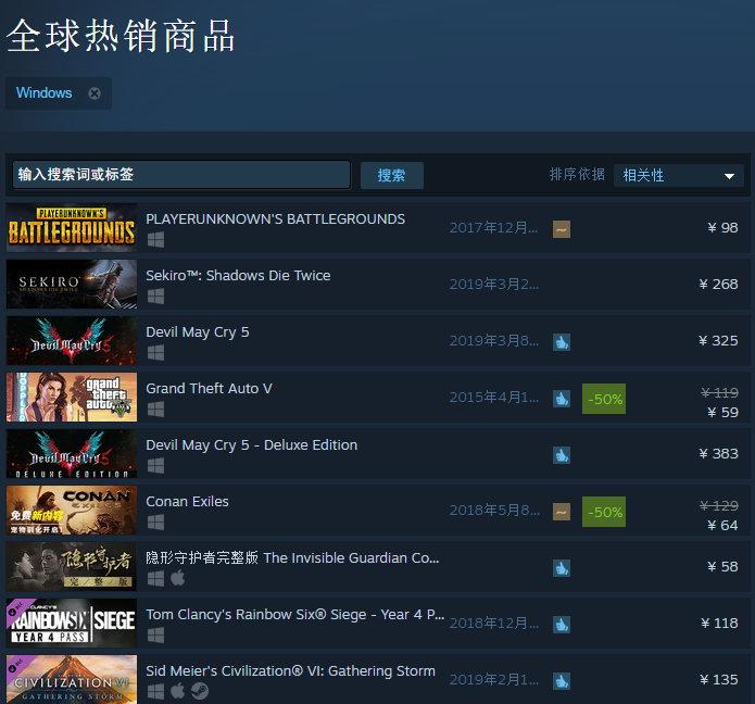 《只狼》位居Steam热销榜第二 众多玩家已迫不及待
