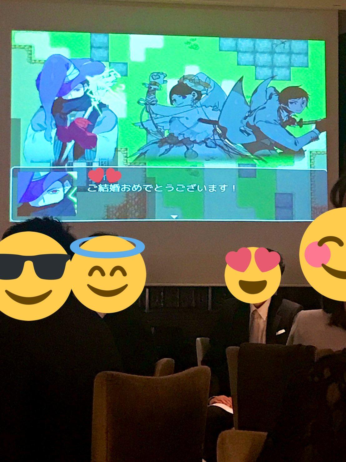 日本玩家的硬核婚礼 绘制亲友NPC自制纪念游戏!