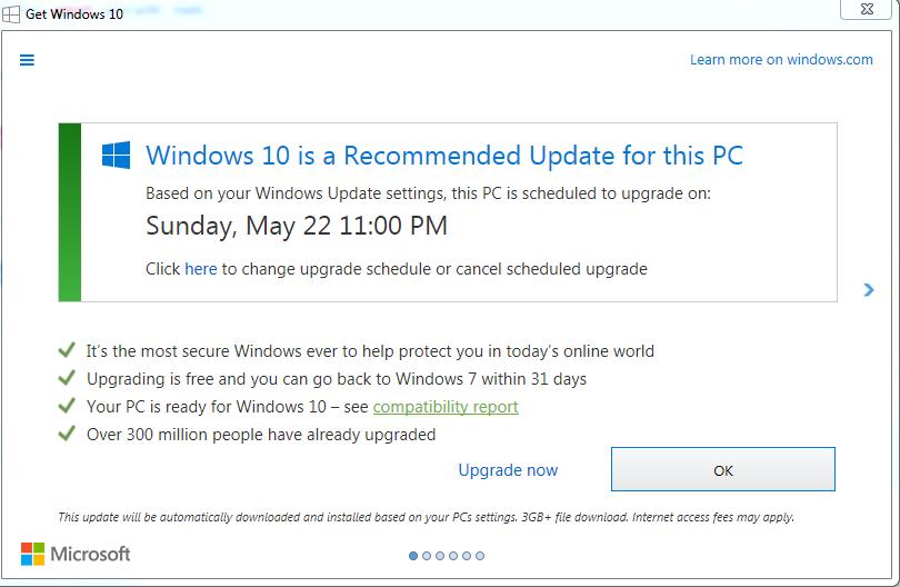 求求你们用Win10吧 微软将再次向Win7用户推送升级通知