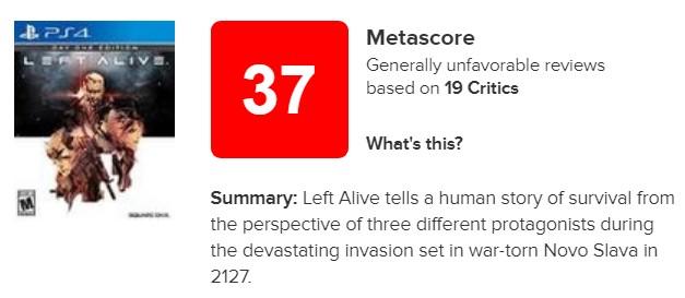 《生还者》IGN仅给出3.8分:大家最好不要玩这个游戏