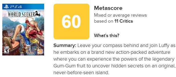 痛苦的体验!《海贼王:世界探索者》IGN评分4.8