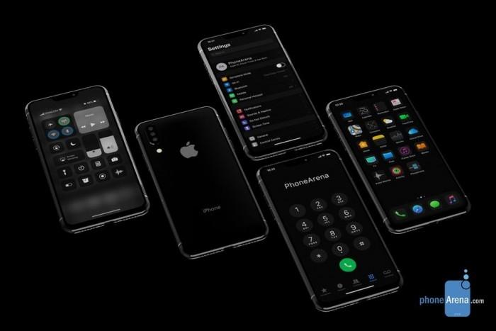 新iPhone和iOS13概念图 深色模式下刘海被完美遮盖
