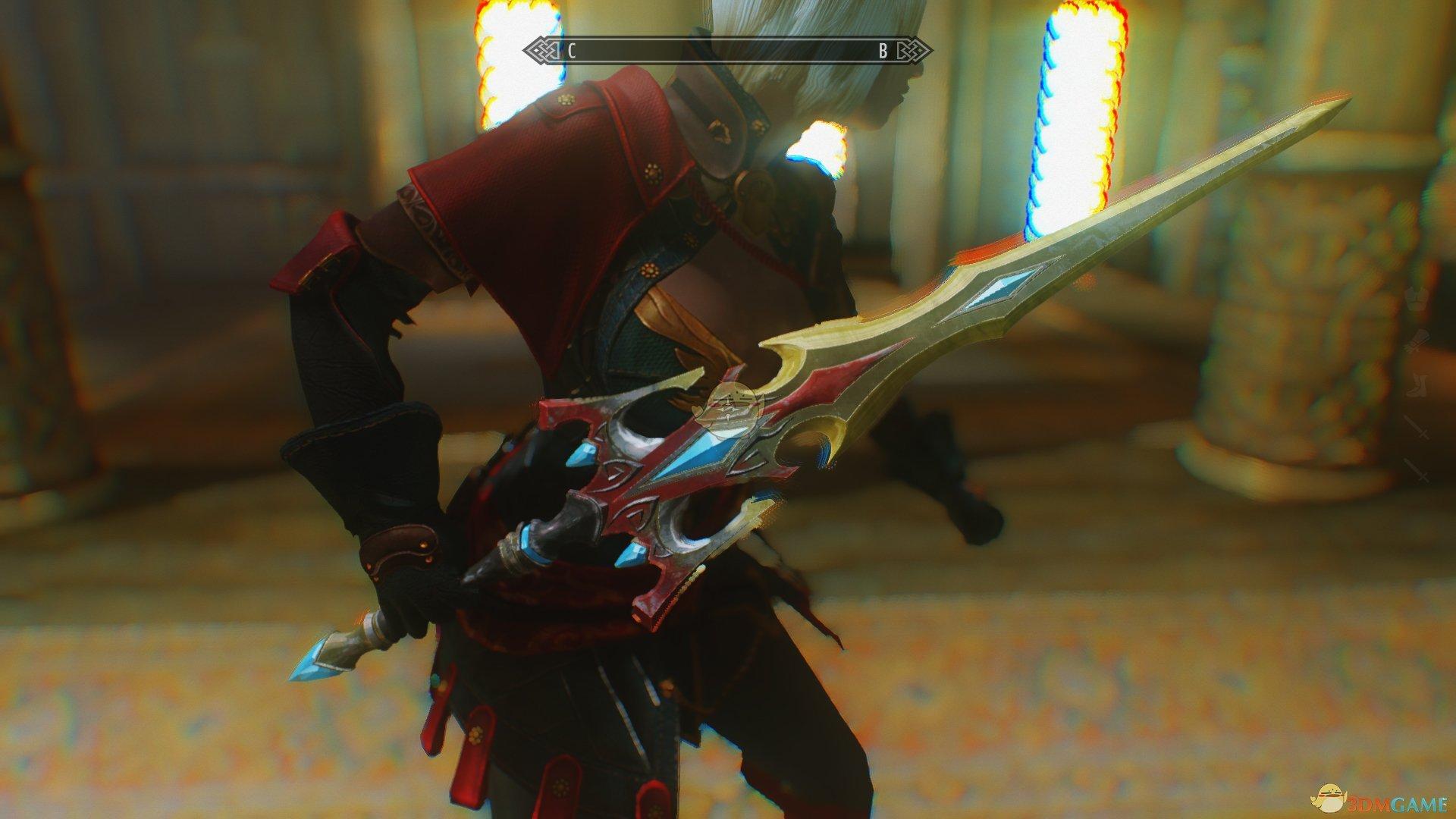 《上古卷轴5:天际》野蛮之刃双剑MOD
