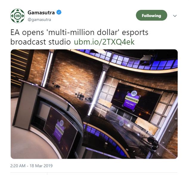 斥资百万美元进军电竞 EA成立电子竞技工作室