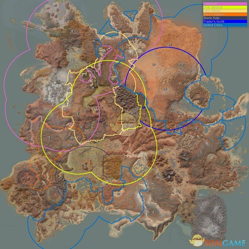 《剑士》势力分布地图一览