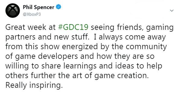 <b>GDC 2019给Xbox总监带来感慨 或想出应对谷歌新技能</b>